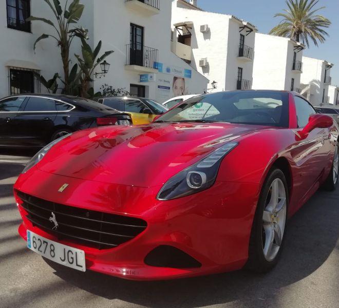 Ferrari de alquiler en Málaga